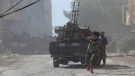 اشتباكات بين مسلحين وقوات من الجيش الوطني- بنغازي 6/7/2017