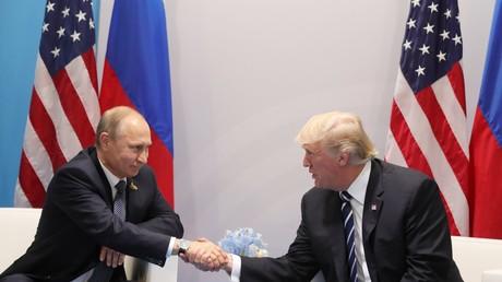 لقاء بوتين ونرامب في هامبورغ