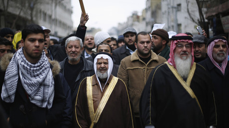 مظاهرة للإخوان المسلمين في الأردن