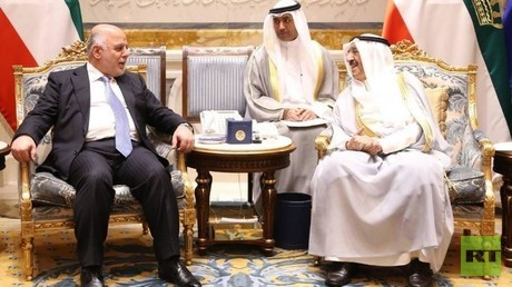 أمير الكويت صباح الأحمد الجابر الصباح ورئيس الوزراء العراقي حيدر العبادي - أرشيف