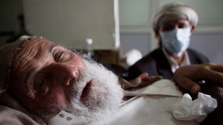 مصاب بالكوليرا في اليمن
