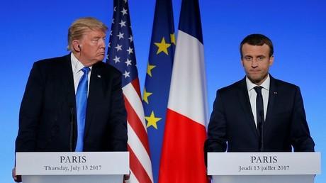 مؤتمر صحفي مشترك لماكرون وترامب في باريس