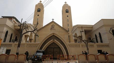 كنيسة في مدينة طنطا تعرضت لهجوم إرهابي 9/4/2017