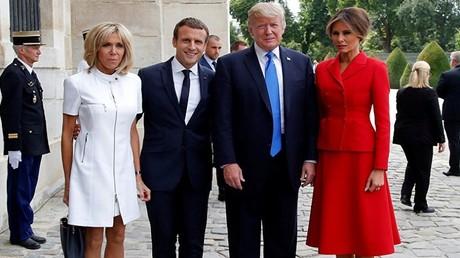 الرئيس الأمريكي وزوجته في ضيافة الرئيس الفرنسي وزوجته