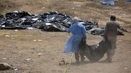 """اكتشاف مقبرة جماعية جديدة لضحايا """"سبايكر"""" في تكريت"""