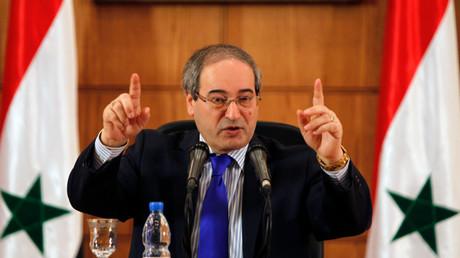نائب وزير الخارجية السوري، فيصل المقداد،