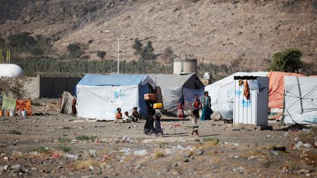 نازحون قرب صنعاء