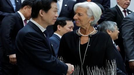 رئيسة صندوق النقد الدولي ووزير المالية الصيني