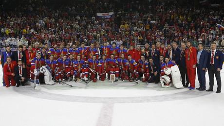 روسيا تحرز برونزية مونديال 2017 لهوكي الجليد - صورة من الأرشيف
