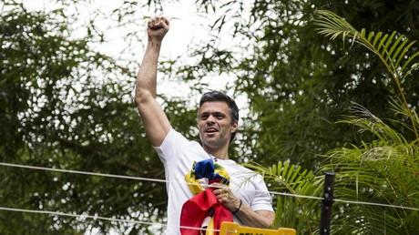 زعيم المعارضة الفنزويلية ليوبولدو لوبيز