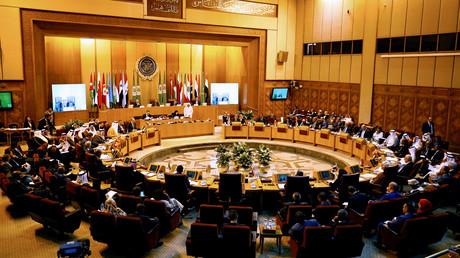 صورة من اجتماع لوزراء خارجية الدول الاعضاء في جامعة الدول العربية (27 يوليو/تموز).