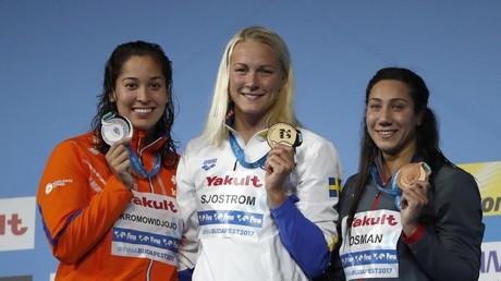 فريدة عثمان تهدي مصر أول ميدالية في بطولة العالم للسباحة