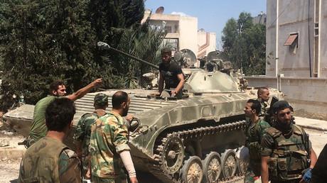 مقاتلون من الجيش السوري