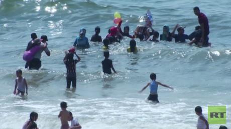 الحر الشديد.. مشكلة أخرى في قطاع غزة