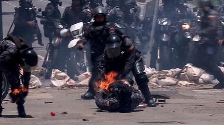 فنزويلا.. إصابة 4 عناصر من قوات الأمن بانفجار في كركاس