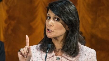 نيكي هايلي، المندوبة الدائمة الأمريكية لدى الأمم المتحدة