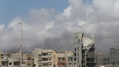 أنقاض مدينة بنغازي الليبية