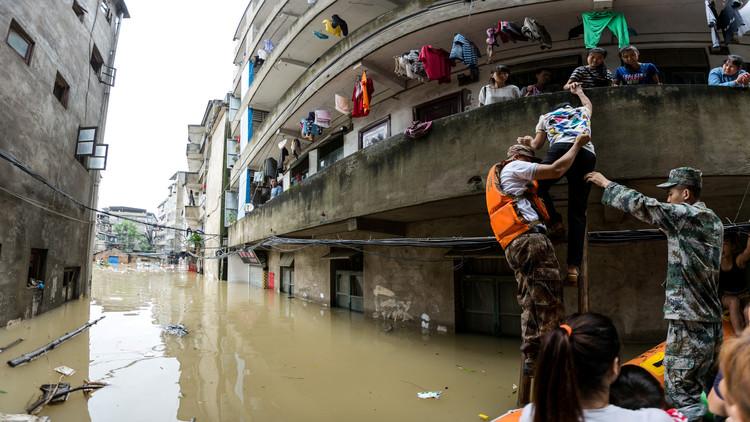 مصرع 10 أشخاص جنوب الصين جراء الفيضانات