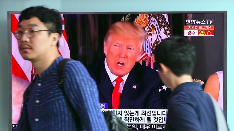 ترامب: الحرب مع كوريا الشمالية ستدور على ضفة واحدة