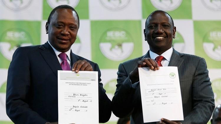 رسميا.. إعادة انتخاب أوهورو كينياتا رئيسا لكينيا