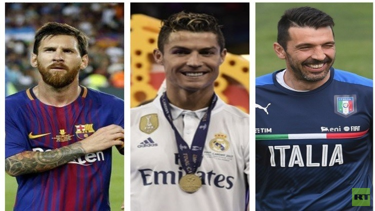 رونالدو في منافسة مع ميسي وبوفون على جائزة أفضل لاعب في أوروبا