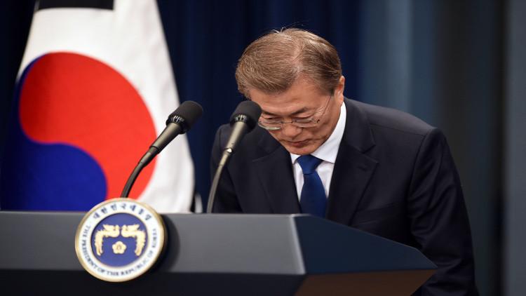 رئيس كوريا الجنوبية يعتذر لأسر ضحايا العبارة