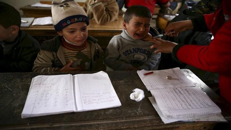 صورة أرشيفية للجنة الدولية للصليب الأحمر في حملة تطعيم ضد شلل الأطفال