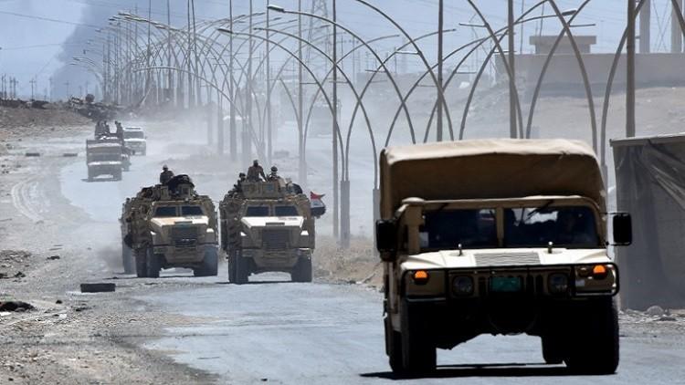 القوات العراقية تعلن تدمير تحصينات داعش باتجاه مركز تلعفر