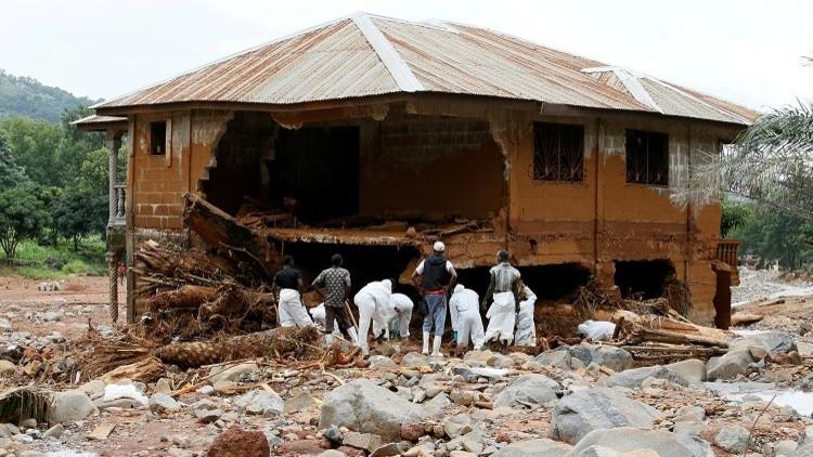 انتشال نحو 500 جثة بانهيار طيني في سيراليون
