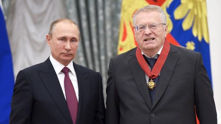 جيرينوفسكي: إذا لم يترشح بوتين فسأفوز بالتأكيد!