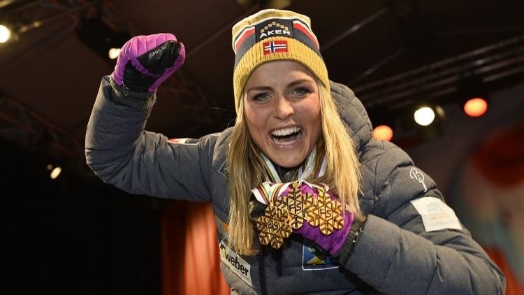 نجمة التزلج النرويجية تيريز جوهوغ تغيب عن أولمبياد 2018