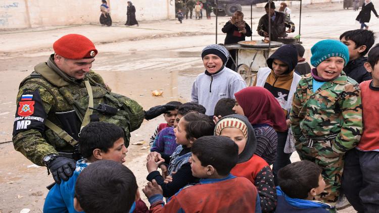 مساعدات روسية لمناطق في محافظة حماة السورية