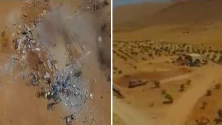 فيديو.. لحظة تدمير مقر لأمير داعش في جرود القلمون
