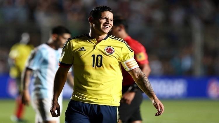 رودريغيز يغيب عن لقاء كولومبيا وفنزويلا بتصفيات مونديال روسيا للإصابة