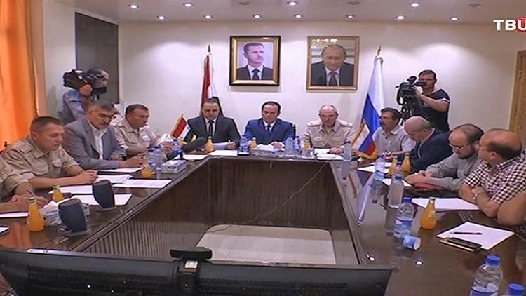 مؤتمر عبر  الفيديو بين ممثلي السلطة والعارضة المسلحة