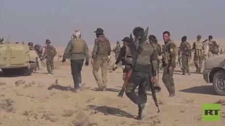 """الحشد يصد هجوما لـ""""داعش"""" على حدود سوريا"""