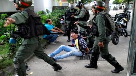 احتجاجات ضد الحكومة الفنزويلية في كاراكاس، 1 اغسطس/آب 2017