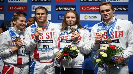 روسيا تواصل حصد الذهب في بطولة العالم للسباحة