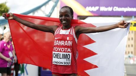 العداءة البحرينية روز شيليما