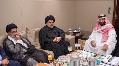 محمد بن سلمان ومقدتى الصدر في جدة