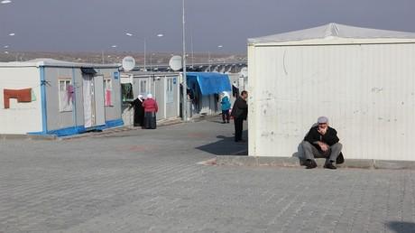 مخيم للاجئين السوريين في غازي عنتاب التركية