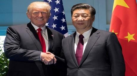 ترامب وشي جين بينغ على هامش قمة مجموعة العشرين، هامبورغ، ألمانيا، 8 يوليو 2017