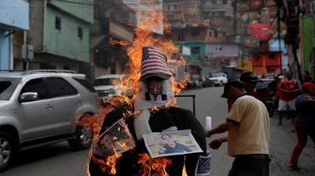أرشيف - احتجاجات في كاراكاس مناهضة للولايات المتحدة