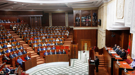 رئيس الحكومة المغربية سعد الدين العثماني يلقي كلمة أمام البرلمان