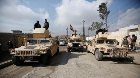 عناصر القوات العراقية في الموصل
