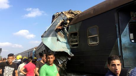 اصطدام قطارين قرب الإسكندرية