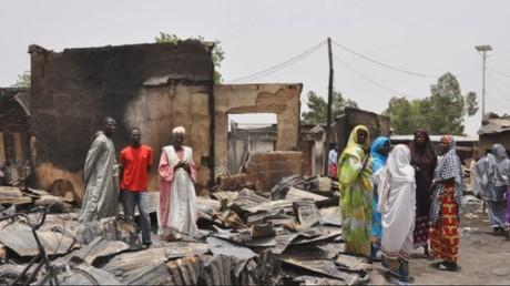 """إحدى القرى النيجيرية بعد هجوم مسلحي """"بوكو حرام"""""""