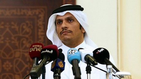 وزير الخارجية القطري الشيخ محمد بن عبد الرحمن آل ثاتي (صورة أرشيفية)