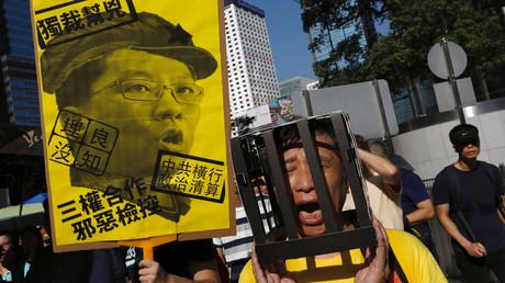احتجاجات في هونغ كونغ على حبس ناشطين