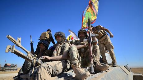 قوات الحشد الشعبي قرب تلعفر يوم أمس